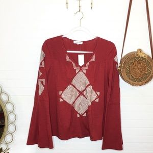 NEW Sugar + Lips Embroidered Blouse